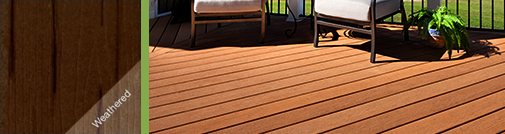 urban java dark brown composite wood decking